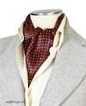エレガント袋縫いプリント柄メンズ用100%シルクスカーフ 10110