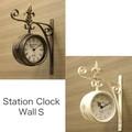 ステーションクロック ウォールS 【両面時計】【壁掛け】