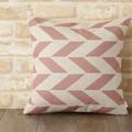 クッションカバー 北欧デザイン ピンク オフホワイト フェザー ジュビリー Jubilee London 45×45cm