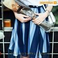 【即納】Aラインストライプチュールスカート