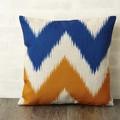 クッションカバー 北欧デザイン ブルー オレンジ ウェーブ ジュビリー Jubilee London 45×45cm