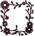 【直送可能】壁面に飾って楽しむ <国産>アイアン風プランテフレーム スクエアフルール