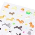 【手帳に書いた予定や罫線を楽しく彩る】シール2276 小さなイヌ柄