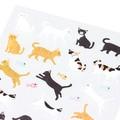 【手帳に書いた予定や罫線を楽しく彩る】シール2277 小さなネコ柄