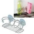 【水を切りながら収納!】 ステンレス製 スポンジ&洗剤ラック