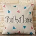 クッションカバー 北欧デザイン ポップ ジュビリー Jubilee London 45×45cm リネン