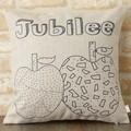 クッションカバー 北欧デザイン プレーン アップル ジュビリー Jubilee London 45×45cm リネン