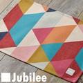 ランチョンマット 2枚セット 北欧 ジュビリー Jubilee カラフル ジオ ピンク ティータオル