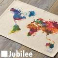 ランチョンマット 2枚セット 北欧 ジュビリー Jubilee カラフル ワールド 世界地図 ティータオル