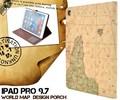 <タブレット用品>スタイリッシュな地図デザイン!iPad Pro 9.7インチ用ワールドデザインケース