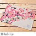 ランチョンマット 2枚セット 北欧 ブロック フラワー ピンク Lamoppe × ジュビリー ティータオル