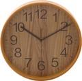 ブライウッド掛時計 (Φ28cm) 〈NA、BR、WH、NV〉