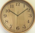 ブライウッド掛時計 (Φ22cm) 〈NA、BR、WH、BK〉