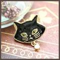 【2016AW新作】おすまし黒猫のピンブローチ