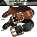 本革 日本製 真鍮 バックルベルト ブラック ブラウン 全2色展開