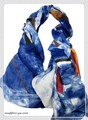 【セール】大判コットン混葉っぱ柄ストール/スカーフ 7326a【母の日】