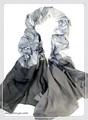 薄手柔らか大判フラワー柄ストール/スカーフ 7327b