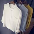 【均一セール】【残りわずか】【2016FW新作】レギュラーカラーコットンシャツ(L)