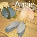 NEW【Angie】 ツインリアルフェザー羽根 ゴールド ピアス!3色展開。シンプル&フェミニン!
