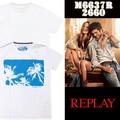 ◆お買い得春夏商材◆REPLAY リプレイ メンズ センタープリント Tシャツ<ラスト1点>