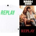 ☆夏物最終処分特集☆REPLAY リプレイ メンズ センターロゴ Tシャツ<ラスト1点>