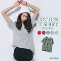 【即納】コットン5分袖Tシャツ(S)