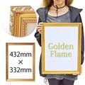 【インテリア/雑貨】ゴールド フレーム ポスター インテリア 飾り 額縁 表彰状 絵画 油絵