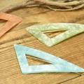 *** NEW 3色展開。三角型アクリルシェル調 フレームピン/ダボピン! ****