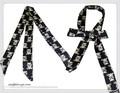 【セール】男女兼用★アニマル柄ネクタイ風ロングシンプルスカーフ 7450g