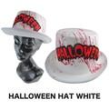 【ハロウィン パーティー イベント】ハロウィンハット ホワイト コスプレ 帽子 ホラー