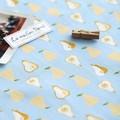 【生地】【布】【オックス】ラフランス - ブルー デザインファブリック