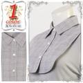 【ファッション雑貨】【セール】綿100%ディッキー 付け襟グレンチェック ストール つけえり チエック