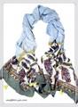 【セール】大判エスニックペーズリー柄ふんわり薄手タッセル付きストール 92299a
