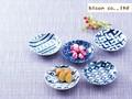 【藍komon】小皿セット/10x2.5cmx5/MADE IN JAPAN