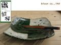 【織部桜】長角大皿/単品/30.5x26.5x6.5cmx1/MADE IN JAPAN