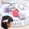 ★2016年ニコプチ10月号掲載商品★【Le cocone】パステル×レースアップハートクリップ