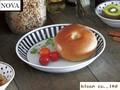 【ノヴァ】パスタ&カレー/22cm/ボーダー/単品5個入(発注単位5)/22x4cm/MADE IN JAPAN