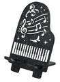【 スマートフォンスタンド(ピアノ) 】 ブラック・ホワイト