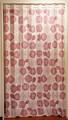 裏と表が同じ柄です 間仕切り 床までのロングサイズ:バラ柄 幅150x丈250cm