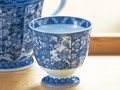 【染付更紗】マルチカップ/8x7.5cm/単品5個入(発注単位5)/MADE IN JAPAN