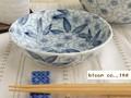 【染付】花舞小鉢/14x3.5cm鉢/5個入/MADE IN JAPAN