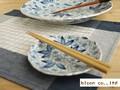 【染付】花舞小皿/14.5x2cm/5個入/MADE IN JAPAN
