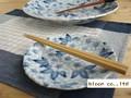 【染付】花舞中皿/16.5x2.5cm/5個入/MADE IN JAPAN