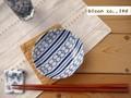 【藍komon】小皿/輪つなぎ/10x2.5cm/単品5個入(発注単位5)/MADE IN JAPAN