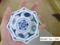 【染付】古伊万里丸紋八角小付/9x2.5cm/5個入/MADE IN JAPAN