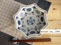 【染付】古染丸紋八角中鉢/18x4.5cm/単品/MADE IN JAPAN
