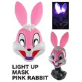 【ハロウィン パーティー イベント】ライトアップマスク ピンクラビット コスプレ ジョーク 光る