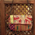 バンジャラミラーワーク刺繍 クラッチバッグ グラーブ