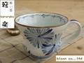 【軽楽の器】染付/花絵軽楽マグカップ/10x8cm/単品/MADE IN JAPAN