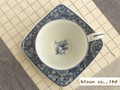 【染付】濃菊コーヒー碗皿/8.5x6cm/単品/MADE IN JAPAN
